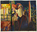 Dante Gabriel Rossetti - Sir Galahad at the ruined Chapel - Google Art Project.jpg