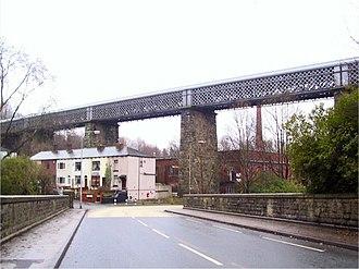 Lattice girder - Darcy Lever lattice girder railway bridge, Lancashire, England.
