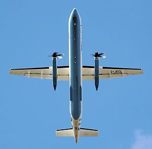 Aspect ratio (aeronautics) - High aspect ratio wing (AR=12.8) of the Bombardier Dash 8 Q400