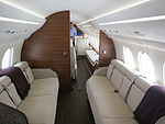 Dassault Falcon 7X aft cabin and bedroom looking forward.JPG