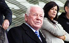 David Whelan watching a Wigan Athletic F.C. football match on 3 May 2010