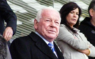 Dave Whelan - Whelan watching a Wigan Athletic match from the owner's box in May 2010.