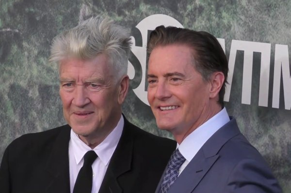 David Lynch and Kyle MacLachlan at the Twin Peaks Premiere 2017