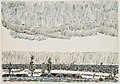 David Milne-Neuville-Saint-Vaast, Nissen Huts on the Souchez-Arras Road.jpg