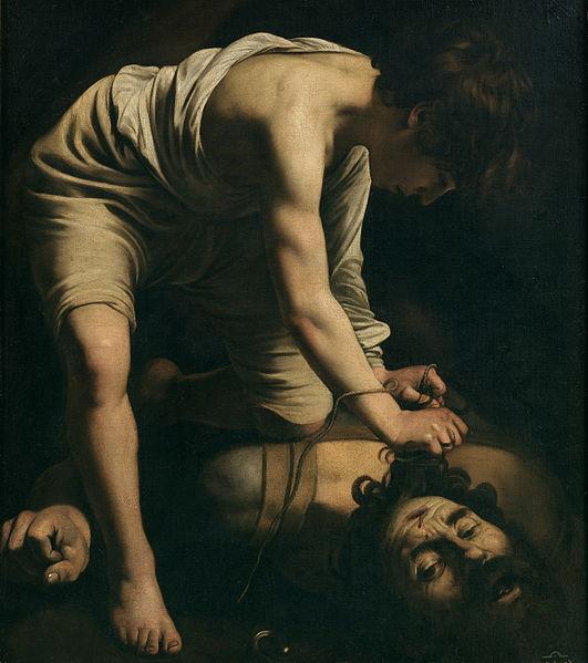 Caravaggio David and Goliath Museo Del Prado