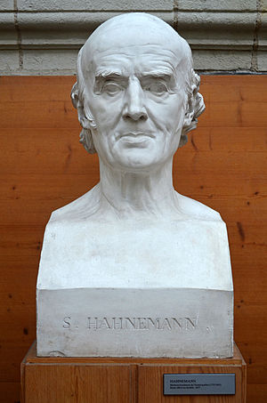 Samuel Hahnemann - Bust of Samuel Hahnemann by French sculptor David d'Angers (1837).