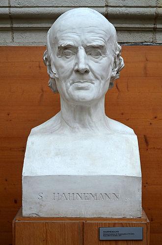 Samuel Hahnemann - Bust of Samuel Hahnemann by French sculptor David d'Angers (1837).