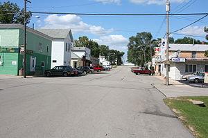 Davis, Illinois - The downtown of Davis
