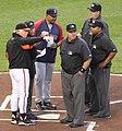 DeMarlo Hale, Buck Showalter, umpires.jpg