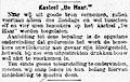 """De Telegraaf vol 002 no 585 Ochtend-editie Kasteel """"De Haar"""".jpg"""