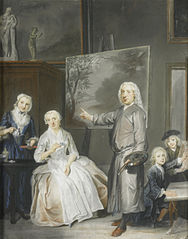 Dirck Dalens III with his second wife, daughter and two sons