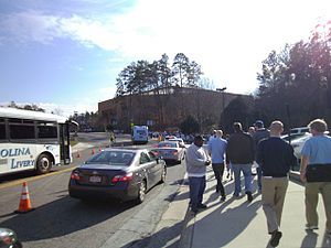 Dean Smith Center - Fans walking to a game at the Smith Center
