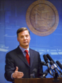 Dean Cannon gestues while discussing the first week of the 2011 Legislature during a news conference.png