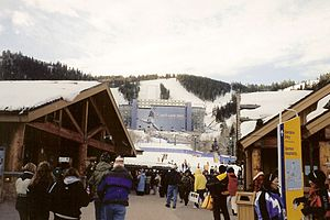 Freestyle skiing at the 2002 Winter Olympics - Olympic Aerials Venue at Deer Valley Resort at the 2002 Olympic Games.