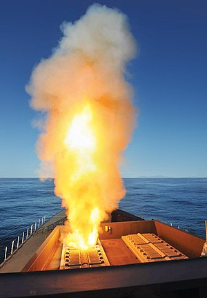 PAAMS - HMS Diamond firing Sea Viper surface-to-air missile for the first time