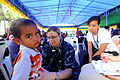 Defense.gov News Photo 100727-A-5573A-359 - U.S. Navy Lt. Stacy Dodt a doctor embarked aboard the Military Sealift Command hospital ship USNS Mercy T-AH 19 examines an Indonesian child.jpg