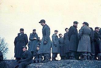 Danish Brigade in Sweden - Soldiers of the Danish Brigade in Sweden, March 1945