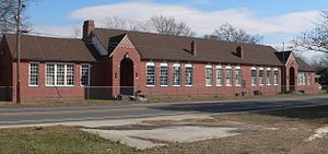 National Register of Historic Places listings in Lee County, South Carolina - Image: Dennis High School (Bishopville SC) 2