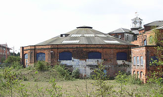 Derby Works - North Midland Railway roundhouse in 2006