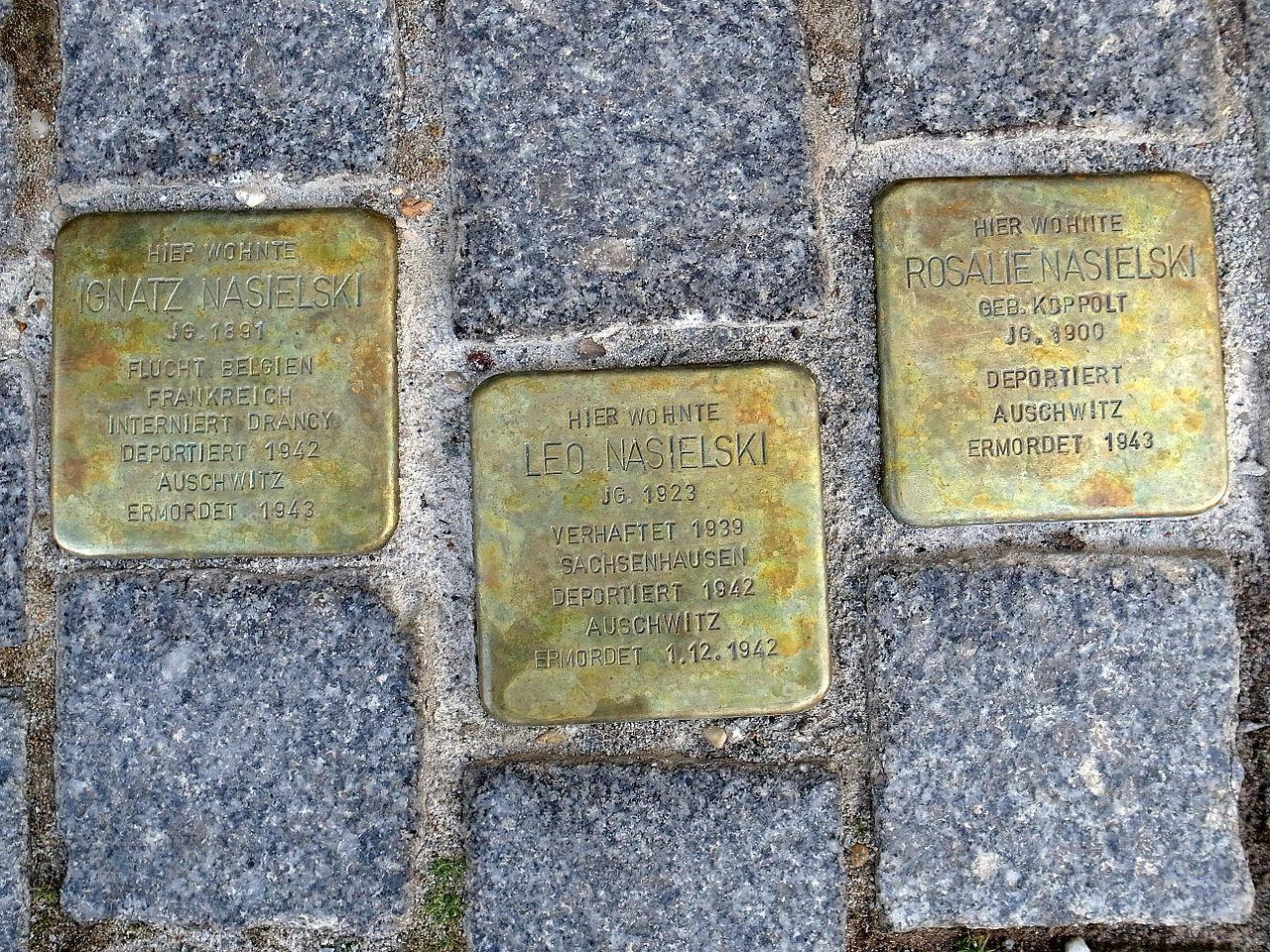 Dessau,Stolperstein Lange Gasse17,Nasielski.JPG