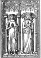 Dessin de Gaignères - Tombeau de Pierre II de Bretagne et Françoise d'Amboise - Collégiale Notre-Dame de Nantes.png