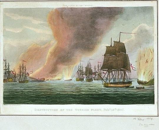 Destruction of the Turkish Fleet Feb 19 1807