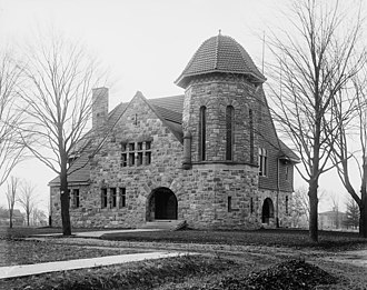 History of Eastern Michigan University - Starkweather Hall, some time between 1900 and 1909