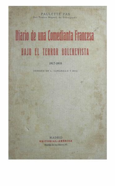 File:Diario Comedianta Francesa Bajo Terror Bolchevista.djvu