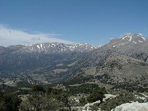Dikti - Selakano valley surrounded by the main ridge of Dikti