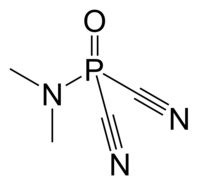 Dimethylamidophosphoric dicyanide 2D structure