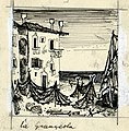 Disegno per copertina di libretto, disegno di Peter Hoffer per La Grançeola (s.d.) - Archivio Storico Ricordi ICON012364.jpg