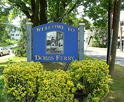Dobbs Ferry welcome sign