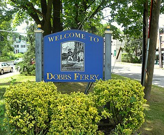 Dobbs Ferry, New York - Dobbs Ferry welcome sign