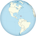 Dominican Republic on the globe (Americas centered).svg