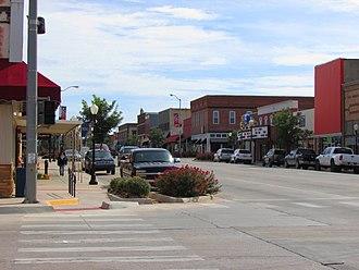 Kingfisher, Oklahoma - Image: Downtown Kingfisher, OK September 2014