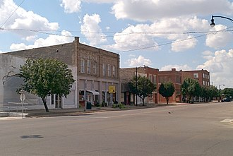National Register of Historic Places listings in Greer County, Oklahoma - Image: Downtown Mangum Historic District