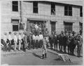 Drafted men reporting for service. Camp Travis, San Antonio, Texas. San Antonio Chamber of Commerce. - NARA - 533730.tif