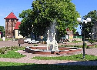 Drawno Place in West Pomeranian, Poland