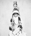 "Dress of a Kyrgyz Woman. ""Saukele"" Turkish, a Ceremonial Hat - WDL (cropped).png"