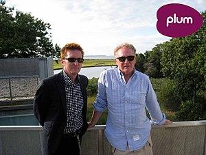 Keanan Duffty - Keanan Duffty with punk impresario Malcolm McLaren.