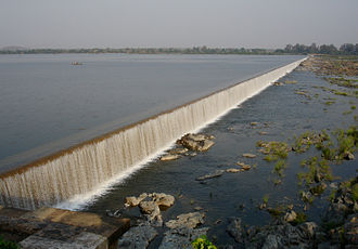 Godavari River - Image: Dummugudem Barrage on Godavari Khammam District