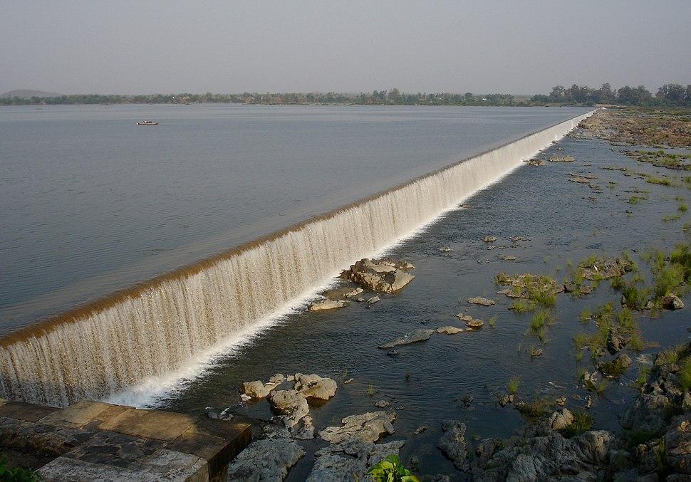 Dummugudem Barrage on Godavari Khammam District