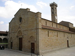 Fiesole Cathedral Church in Tuscany, Italy