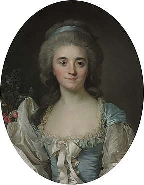 Duplessis - Marie Joséphine of Savoy in a turquoise dress