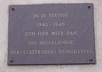 Dutch plaque in Sachsenhausen concentration camp