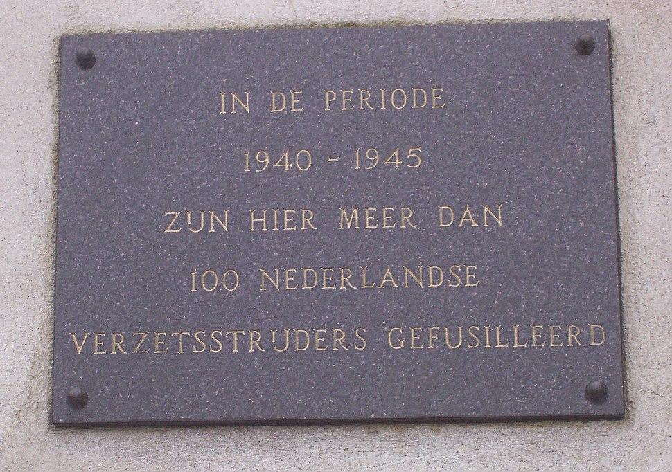 Dutch plaque in Sachsenhausen concentration camp