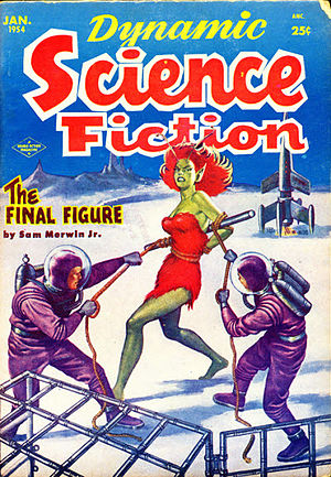 """Sam Merwin Jr. - Merwin's novelette """"The Final Figure"""" was the cover story for the final issue of Dynamic Science Fiction in 1954"""