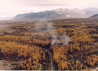 1995 Alaska Boeing E-3 Sentry accident - Image: E 3B Sentry AWACS Crash 22 Sep 95