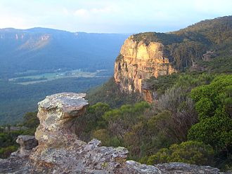 Megalong Valley - Looking from Megalong Head, across the north-western section of Megalong Valley