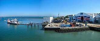 East Cowes - Image: EAST COWES HARBOUR INDUSTRY... (8169284465)